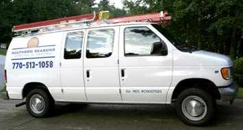 Heating and Cooling Van